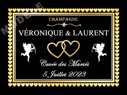 etiquette de champagne personnalisable pour mariage ema 10