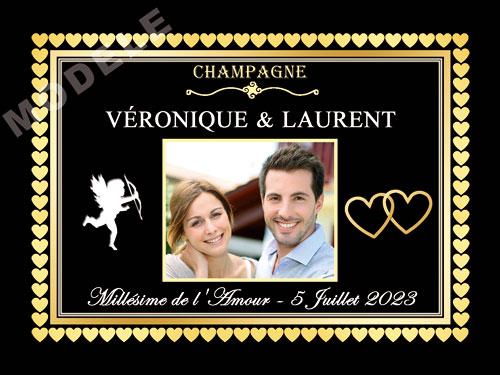 etiquette de champagne personnalisable pour mariage ema 11