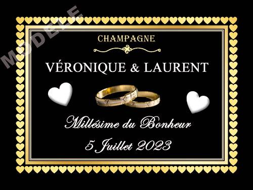 etiquette de champagne personnalisable pour mariage ema 12