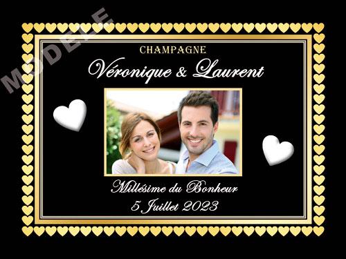 etiquette de champagne personnalisable pour mariage ema 13