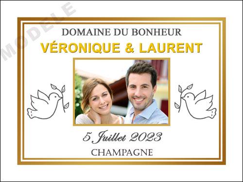 etiquette de champagne personnalisable pour mariage ema 15