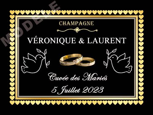 etiquette de champagne personnalisable pour mariage ema 16
