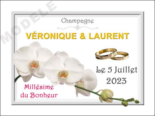 etiquette personnalisée mariage pour bouteille de champagne ema 20