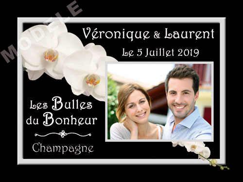 etiquette personnalisée mariage pour bouteille de champagne ema 21