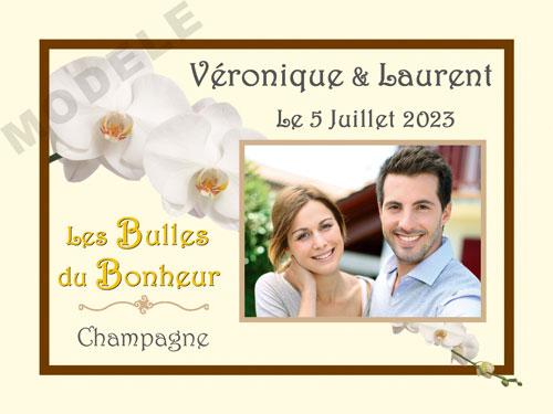 etiquette personnalisée mariage pour bouteille de champagne ema 25
