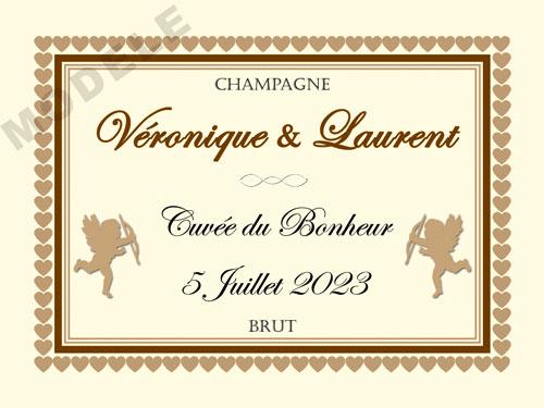 etiquette personnalisée mariage pour bouteille de champagne ema 26