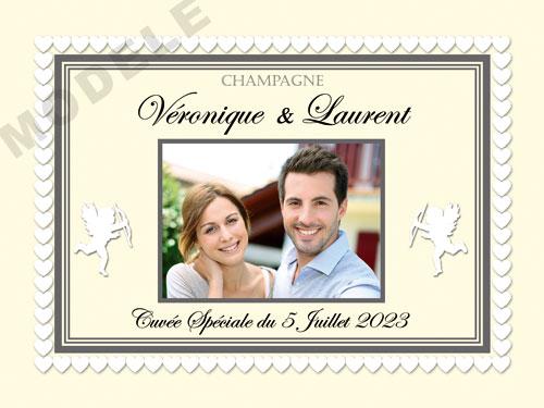 etiquette personnalisée mariage pour bouteille de champagne ema 27