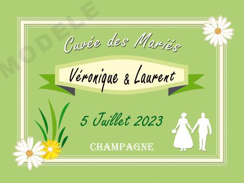 etiquette personnalisée mariage pour bouteille de champagne ema 28