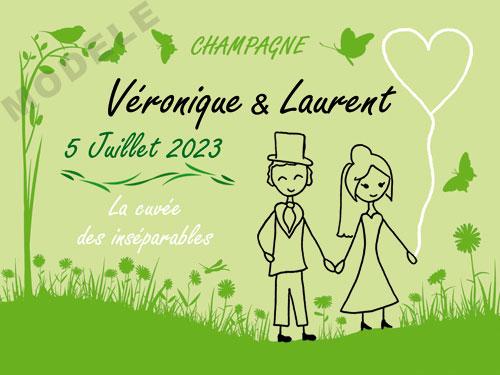etiquette champagne mariage ema 30