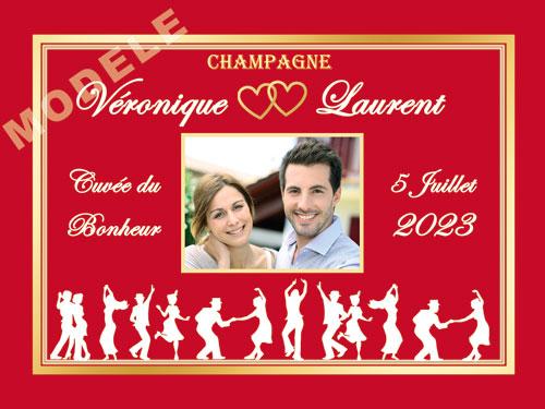 etiquette de mariage pour bouteille de champagne ema 41