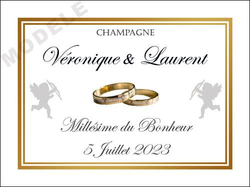 etiquette de mariage pour bouteille de champagne ema 43