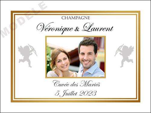 etiquette de mariage pour bouteille de champagne ema 44