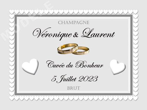 etiquette de mariage pour bouteille de champagne ema 45