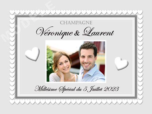 etiquette de mariage pour bouteille de champagne ema 46