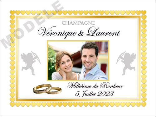 etiquette de mariage pour bouteille de champagne ema 52