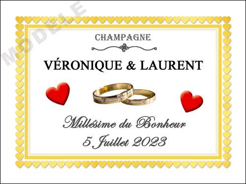 etiquette de mariage pour bouteille de champagne ema 53