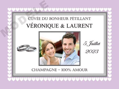 etiquette de mariage pour bouteille de champagne ema 62