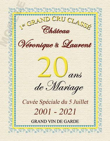 etiquette de vin personnalisable pour anniversaire de mariage vam 02