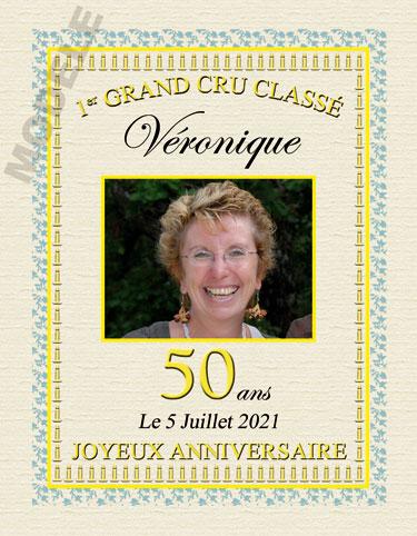 etiquette de vin personnalisable pour anniversaire van 02