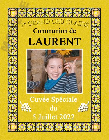 étiquette de vin personnalisable pour communion vcom 02