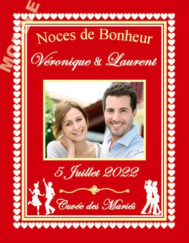 étiquette de vin personnalisable pour mariage vmar 01