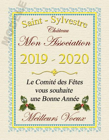 étiquette de vin personnalisable pour réveillon de nouvel an vnan 02