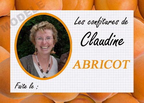 étiquette personnalisée pour confiture d'abricot abr 02