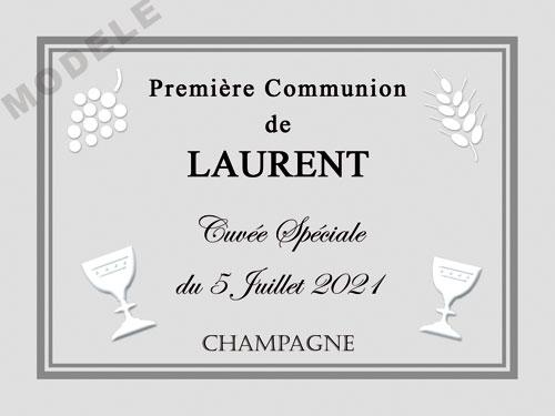etiquette de champagne personnalisable pour communion com 04
