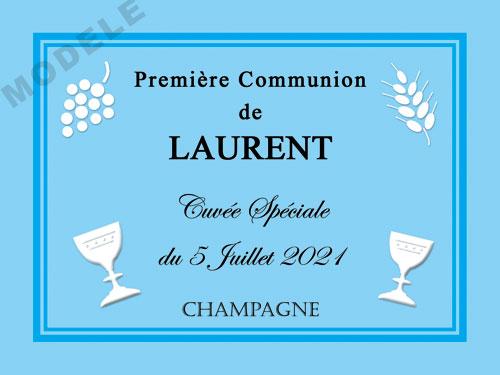 etiquette de champagne personnalisable pour communion com 05
