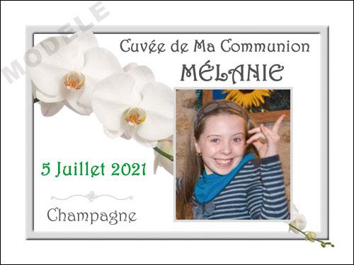 etiquette de champagne personnalisable pour communion com 08