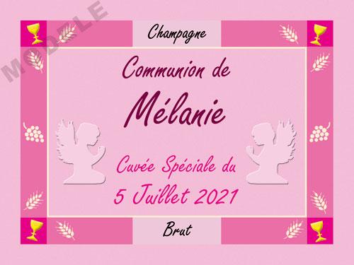 etiquette personnalisée communion pour bouteille de champagne com 11