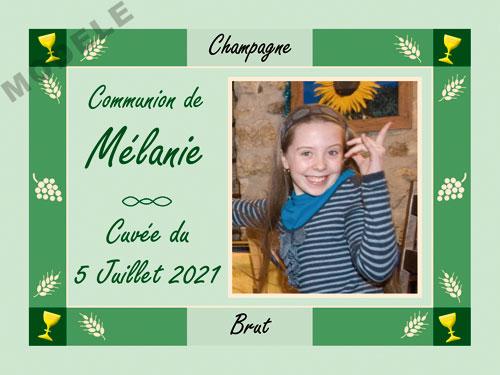 etiquette personnalisée communion pour bouteille de champagne com 13