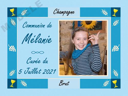 etiquette personnalisée communion pour bouteille de champagne com 14