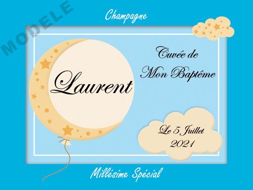 etiquette champagne baptême eba 32