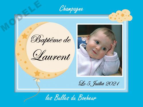 etiquette champagne baptême eba 33