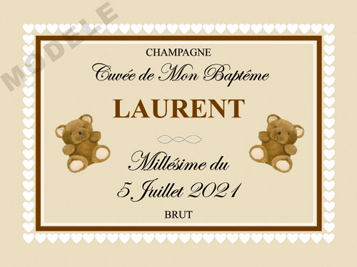 etiquette champagne baptême eba 35