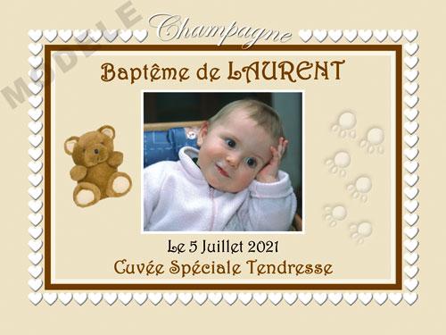 etiquette champagne baptême eba 36