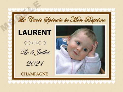 etiquette champagne baptême eba 37