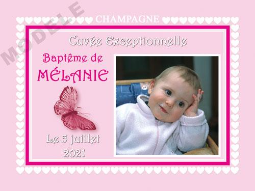 etiquette champagne baptême eba 39