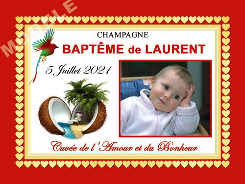etiquette baptême pour bouteille de champagne eba 47