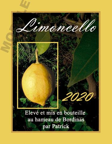 étiquette personnalisée pour bouteille de limoncello evl 01