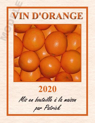 étiquette personnalisée pour bouteille de vin d'orange evo 02