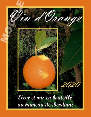 étiquette personnalisée pour bouteille de vin d'orange evo 03