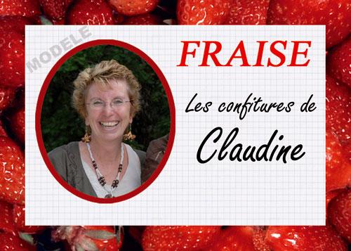 étiquette personnalisée pour confiture de fraise fra 02
