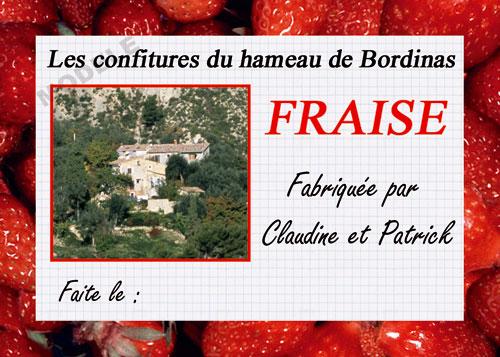 étiquette personnalisée pour confiture de fraise fra 03