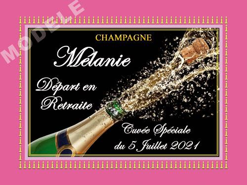 etiquette de champagne personnalisable pour retraite ret 06
