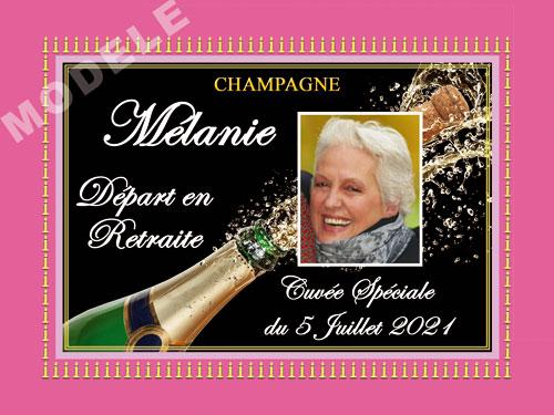 etiquette de champagne personnalisable pour retraite ret 07