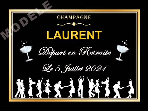 etiquette de champagne personnalisable pour retraite ret 08