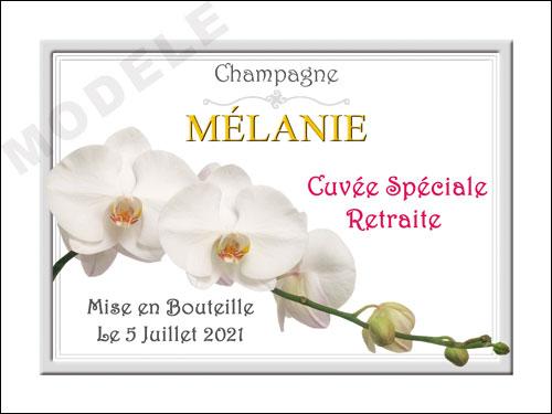 etiquette personnalisée retraite pour bouteille de champagne ret 12