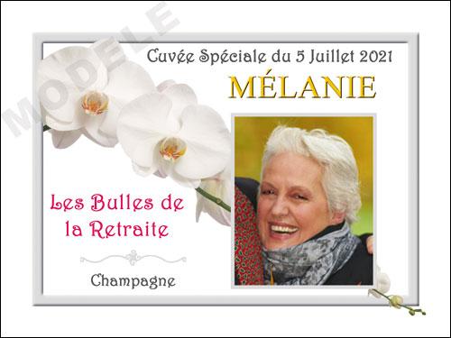 etiquette personnalisée retraite pour bouteille de champagne ret 13